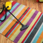 pruhovaný koberec